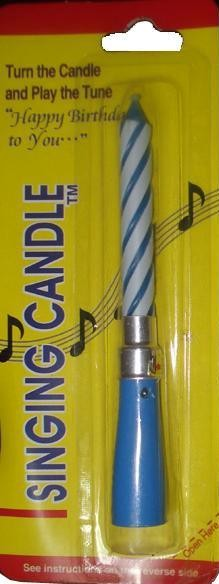 Birthday Singing Candle (Blue)