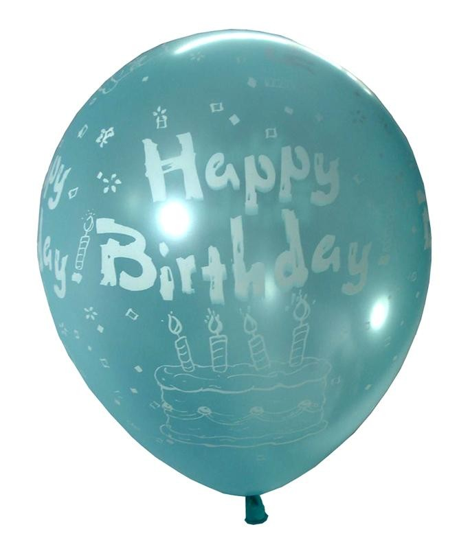 Happy Bday Cake Latex Balloon