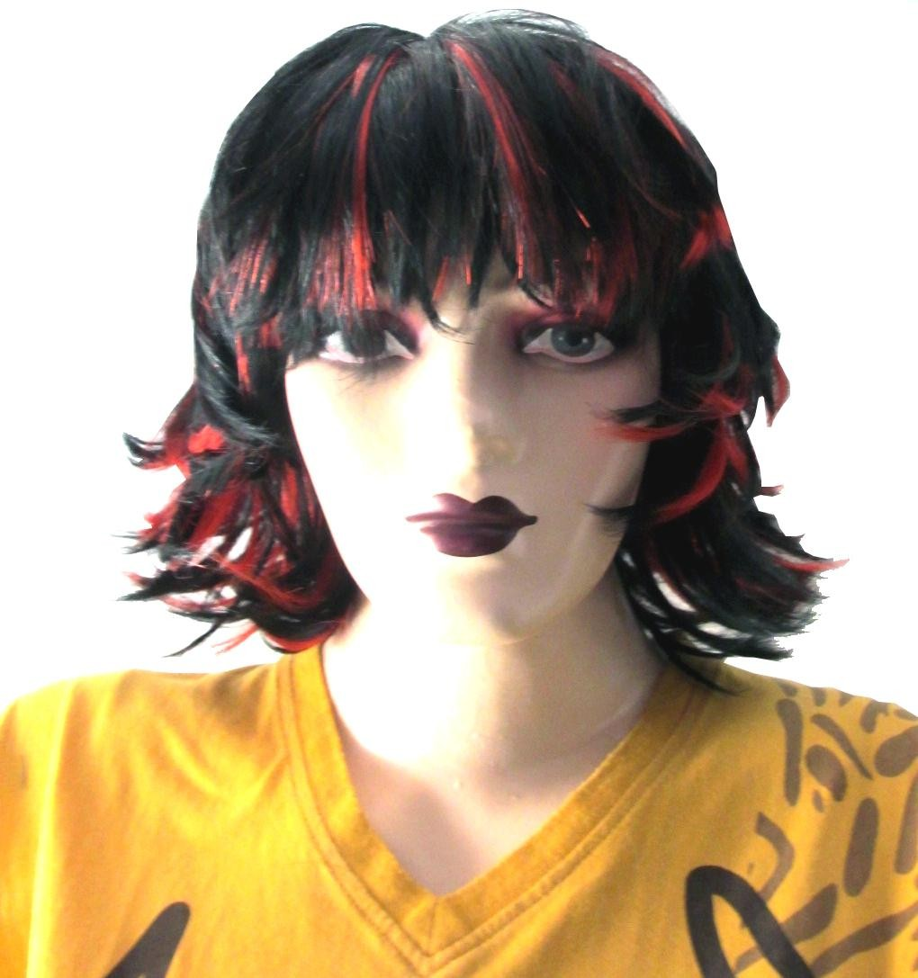 Tempting Red And Black Wig