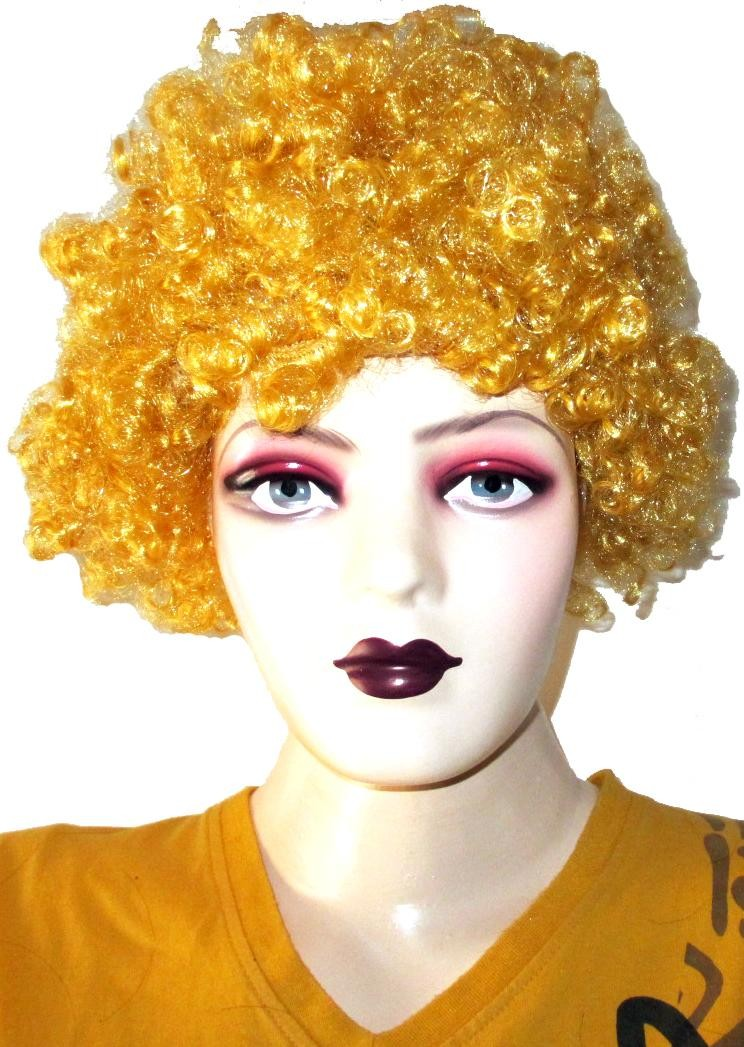 Golden Frizzy Afro Wig