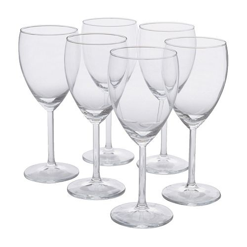 Large Wine Glasses (Clear Plastic) Pack Of 6
