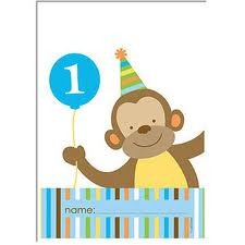 One-Derful Birthday Boy Party Loot Bags - Pack of 8