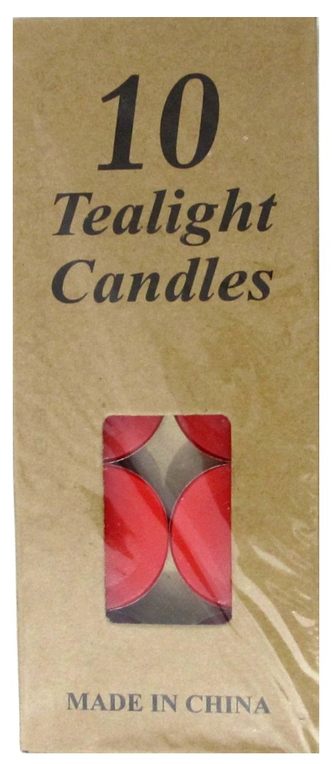 Tea Light Candles - Red (Pack of 10)