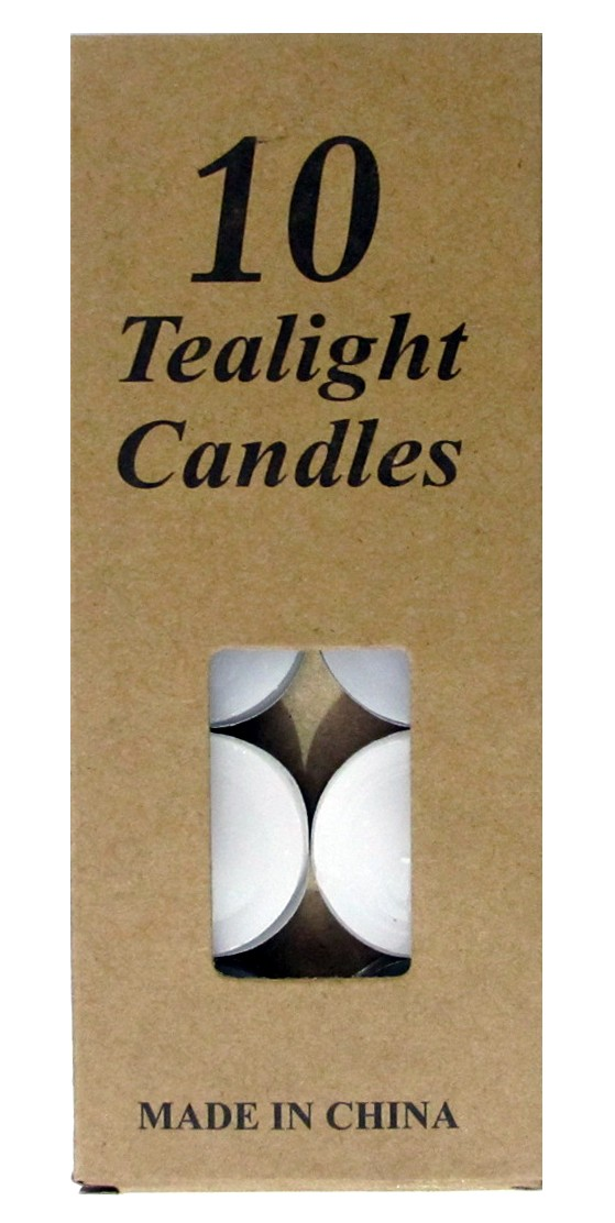 Tea Light Candles - White (Pack of 10)