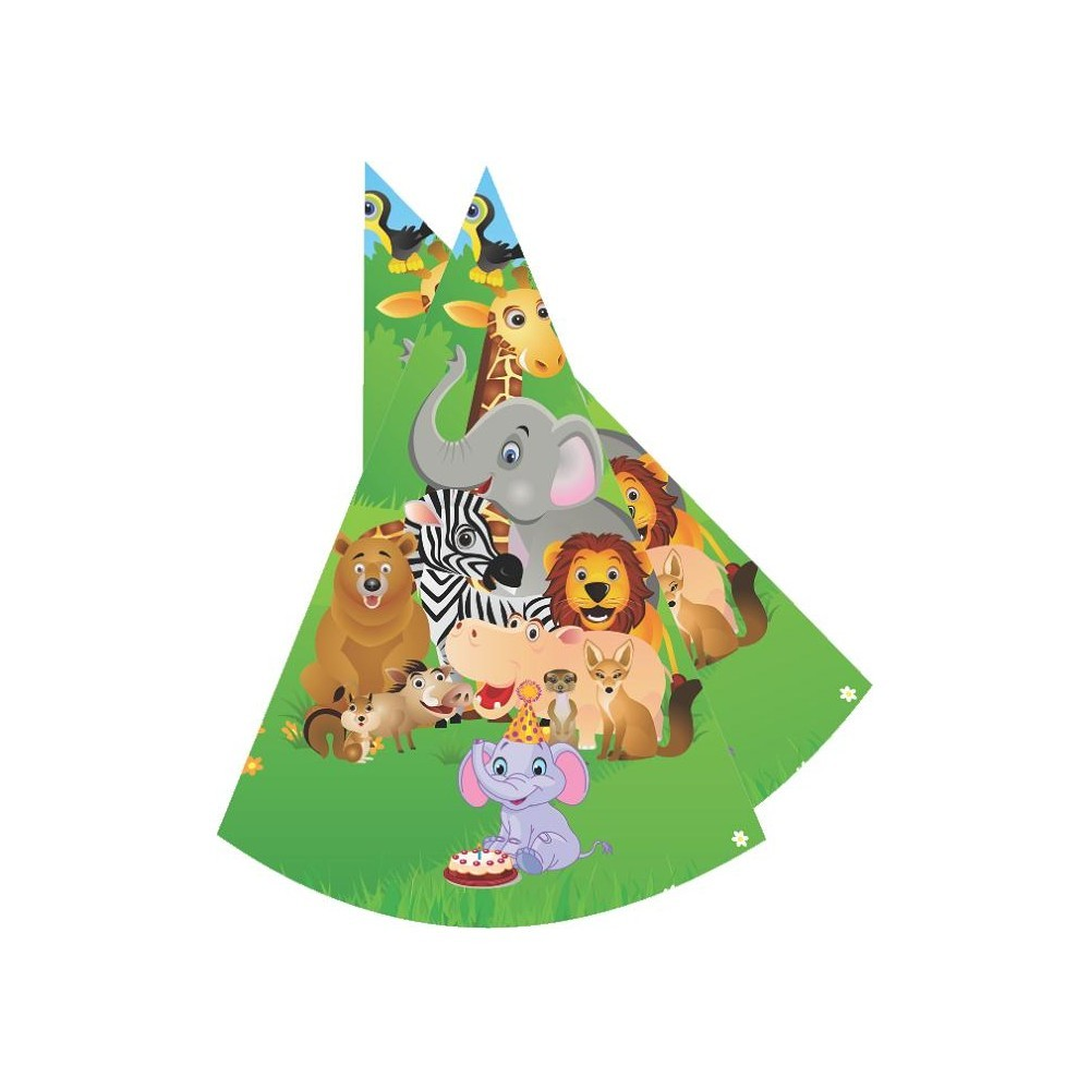 Jungle Party Paper Hats - Pack of 10