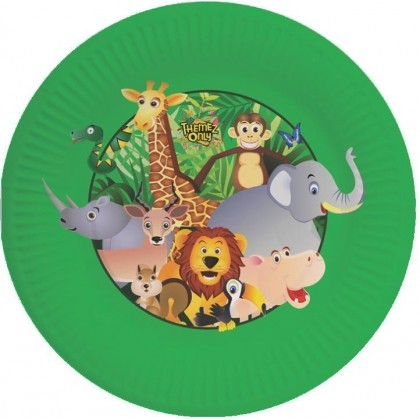Jungle Party Paper Plates - Pack of 10