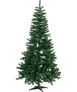 Christmas Tree With Lights & Ornaments - Easy To Assemble (7 Feet)