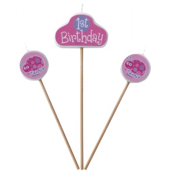 1st Birthday Candle (Pink)