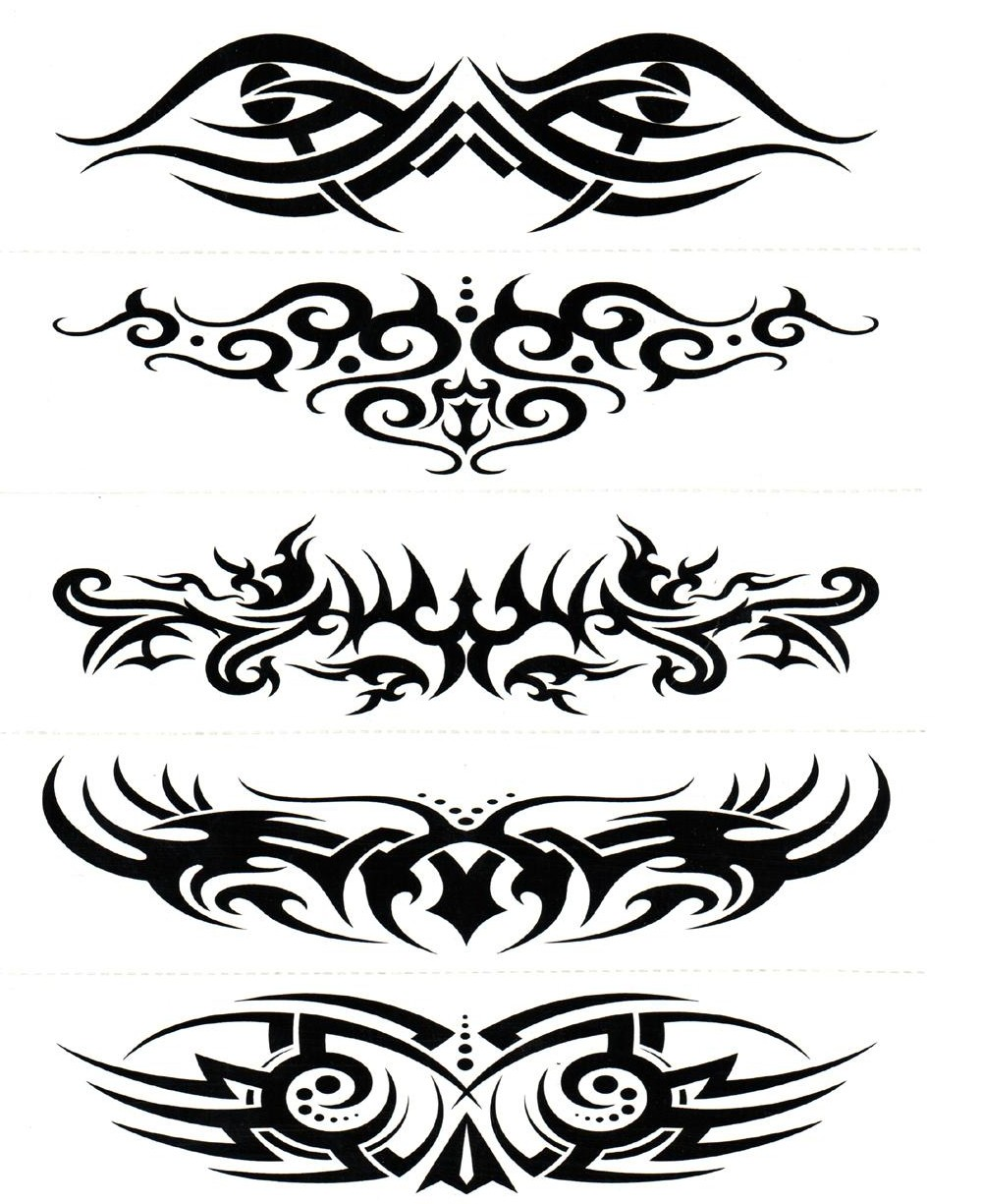 Water Transfer Temporary Tattoos (5 in 1) - 1