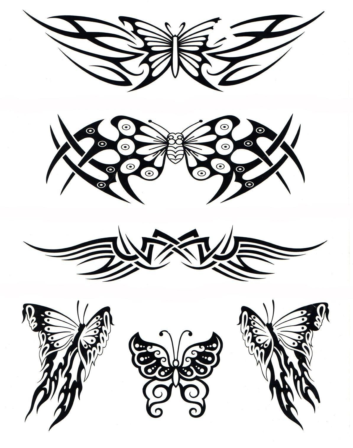 Water Transfer Temporary Tattoos (6 in 1) - 1