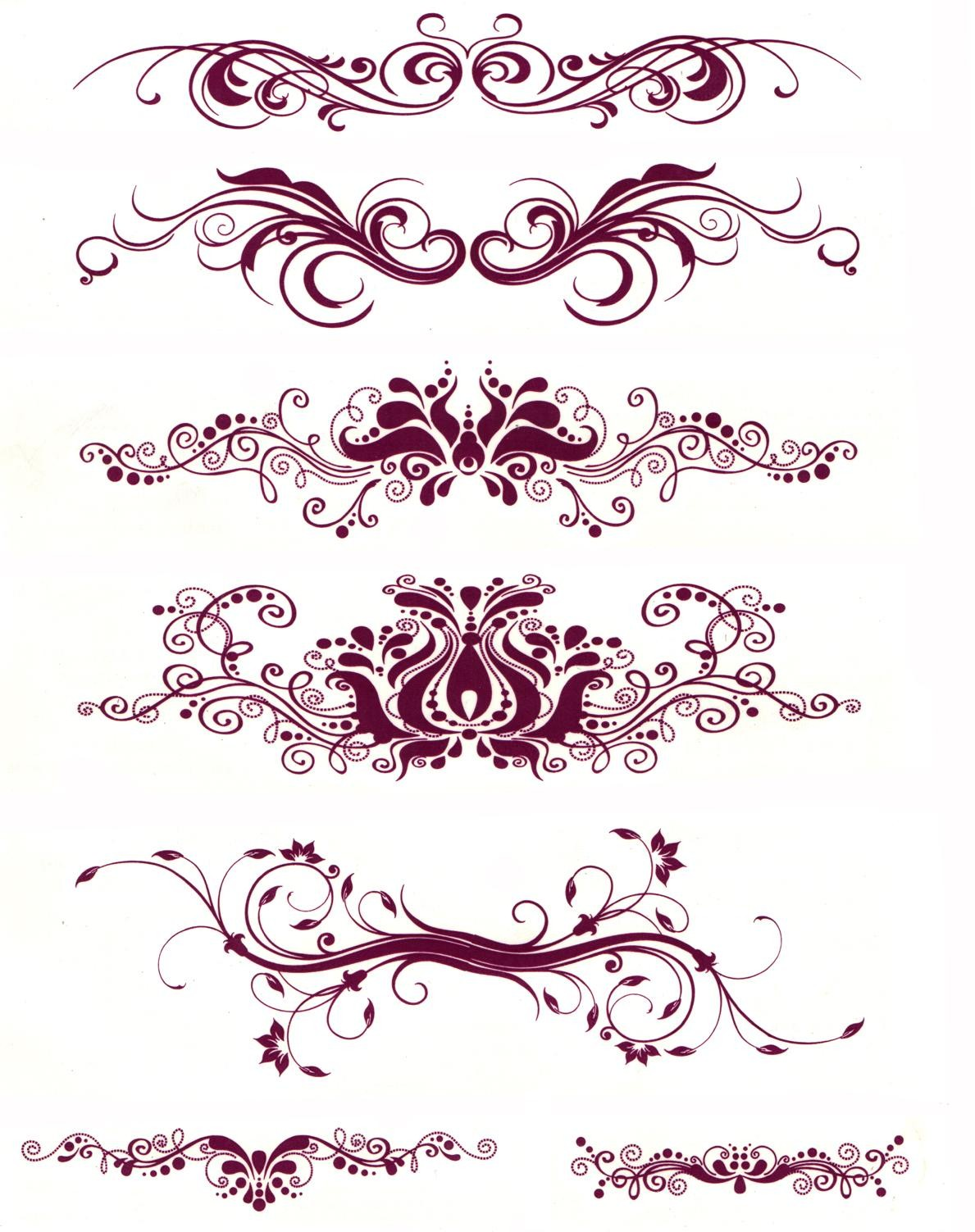 Water Transfer Temporary Tattoos (7 in 1) - 1