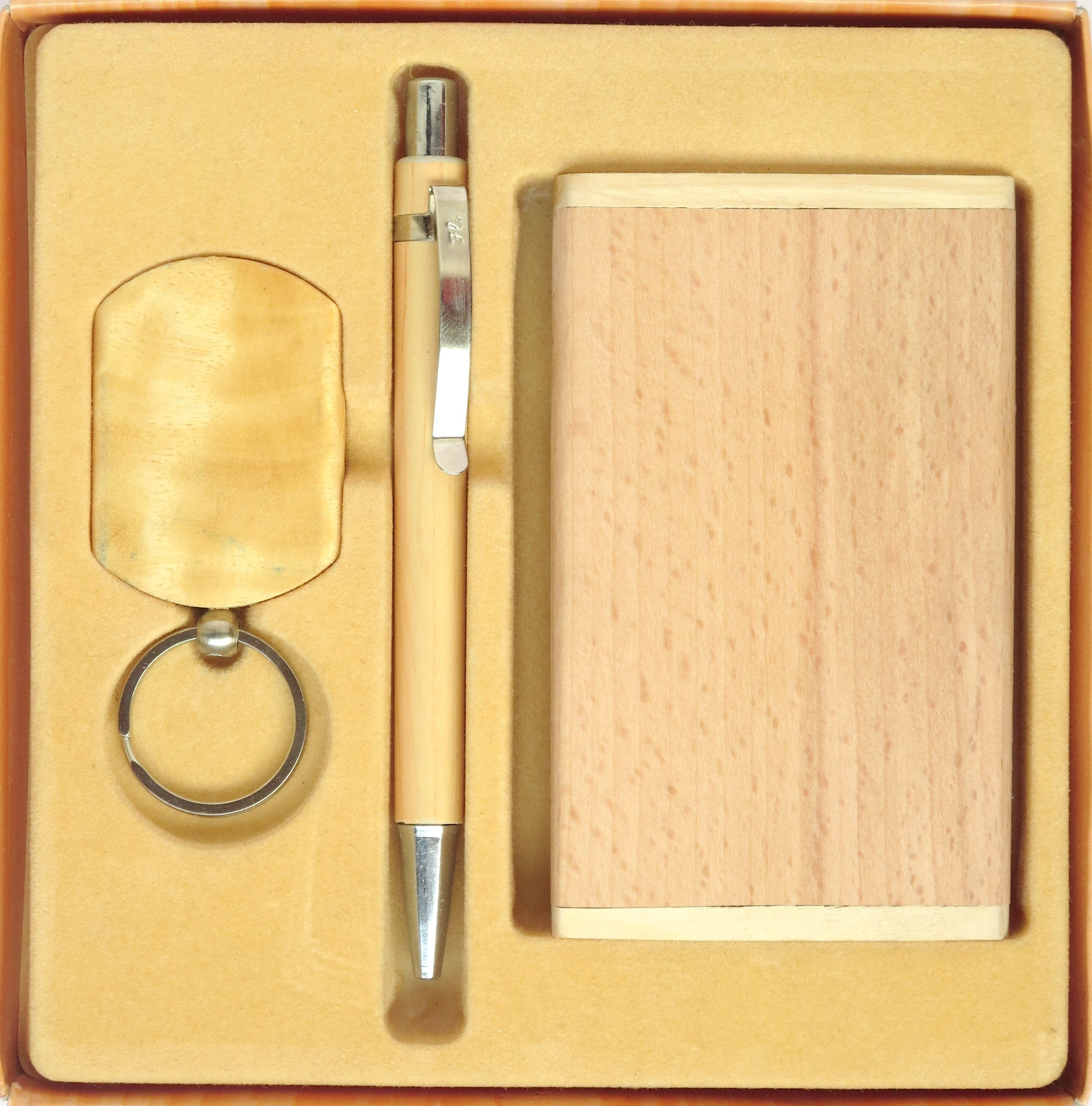 Eco Friendly Wooden Stationery Gift Set Stationary