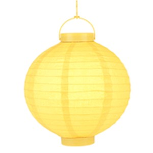 "Yellow Battery Operated Lantern - 8"" (Pack Of 3)"
