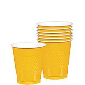 Solid Yellow Sunshine Plastic Cups (Pack Of 20)