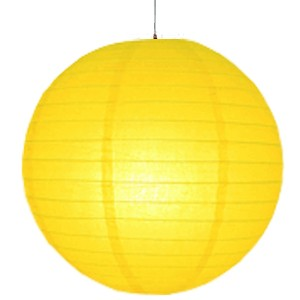14 inch Even Round Paper Lantern (Yellow) - (1 Piece)