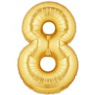 Golden Number 8 Foil Balloon - 24""