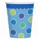 1st Birthday Cupcake Boy Party Paper Cups (Pack of 18)