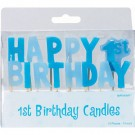 1st Birthday - Baby Boy - Toothpick Candle