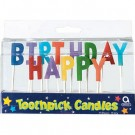1st Birthday - Toothpick Candle