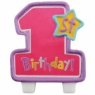 One-Derful Birthday Girl Pink Candle