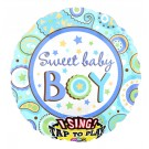 Sweet Baby Boy Singing Foil Balloon - 28""