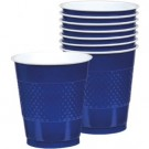 Solid Royal Blue Plastic Cups (Pack Of 20)