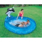 Intex Whale Spray Inflatable Pool (Blue)