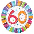 Number 60th Foil Balloon - 18in