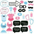 Baby Shower Party Photo Booth Props, Multi Colour - (Set of 30)