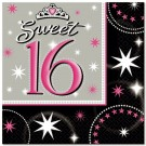 Sweet 16 Paper Napkins (Pack Of 16)