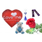 Love Me Print With Red Background  Valentine Combo (Pack Of 7)