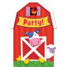 Barnyard Fun Party Invitations Cards With Envelopes - Small (Pack Of 8)