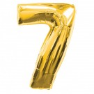 Golden Number 7 Foil Balloon - 24""