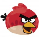 Angry Birds SuperShape Red Bird Foil Balloon 23 in x 20 in
