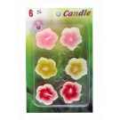 Assorted Floating Candles Design - 1 (Pack of 6)