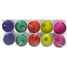Assorted Gel Candles With Metal Base - (Pack of 10)