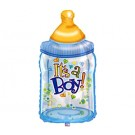 Baby Bottle Shaped Jumbo Foil Balloon (Blue) - 38""