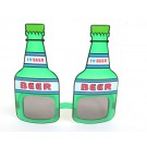 Beer Bottle Shaped Party Shades (Green)