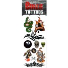 Biker Water Transfer Temporary Tattoos (Design - 2)