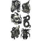 Biker Water Transfer Temporary Tattoos (Design - 4)