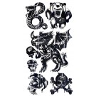Biker Water Transfer Temporary Tattoos (Design - 5)