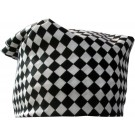 Black And White Checkered Print Bandana