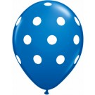 Polka Dots Latex Balloons (Baby Blue) - Pack of 5 - 18""