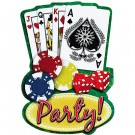 Casino Party Invitation Cards (Pack Of 20)