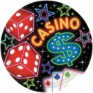 Casino Party Paper Plates (Pack Of 8)