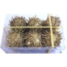 Decorations Furry Balls - Golden - (Pack of 6)