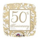 Golden 50 Years Together Anniversary Foil Balloon - 18""