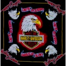Eagle Print Biker Motor Cycles Bandana