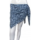 Exotic Printed Black And White Sarong
