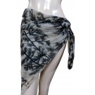 Exotic Tree Print Cream Sarong